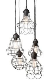 french industrial decor lounge - Google Search lights