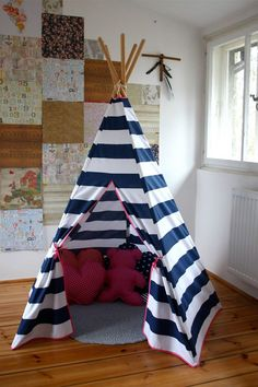 #pacztipi #pacz #teepee #tipi #wigwam #tent #stripes #pillows #radosnafabryka #handmade Kids Room, Toddler Bed, Room Decor, Cool Stuff, Cotton, Furniture, Home, Cool Things, Home Decor