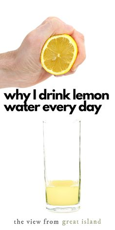 Why I Start Every Day With Lemon Water ~ my recipe for lemon water, plus separating the myths from the facts about drinking lemon water every morning. #health #lemonwater #breakfast Lemon Water In The Morning, Warm Lemon Water, Drinking Lemon Water, Citrus Recipes, Water Recipes, Lemon Juice Benefits, Island Food, Diet And Nutrition, Health Benefits