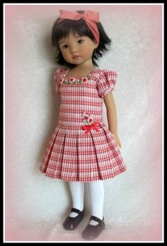 Plaid Posey Ensemble for 13 inch Effner Little Darling by VSO | eBay