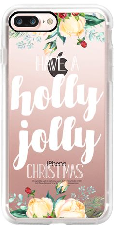 Casetify iPhone 7 Plus Classic Grip Case - Have a Holly Jolly Christmas by The Olive Tree #Casetify