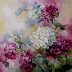 Andrew Orr - Hydrangeas - China Painting: