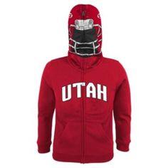 Utah Utes Full-Zip Fleece Costume Hoodie - Boys 8-20