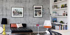 Tapet og fototapet med grå betong.
