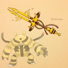 Instagram media by rebusalpa - Pokeapon No. 466 - Electivire. #pokemon #electivire #稲妻 #pokeapon