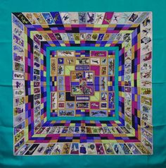 Authentic Vintage HERMES SCARF from 1990 Correspondance/Caty Latham