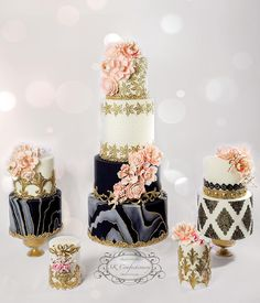 Elegance is the only beauty that never fades 💕 A collection of some of my fav pieces created for featuring my fav color palette! Elegant Wedding Cakes, Elegant Cakes, Beautiful Wedding Cakes, Gorgeous Cakes, Wedding Cake Designs, Pretty Cakes, Amazing Cakes, Cupcakes, Cupcake Cakes