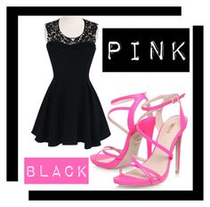 """""""Pink & Black"""" by alligatormarie ❤ liked on Polyvore featuring Carvela, Pink and black"""