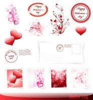 romantic valentine vector elements
