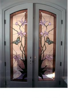 stained glass front entry door with side panels | Stained Glass Gallery - JoAnne's Stained Glass, Truckee, CA