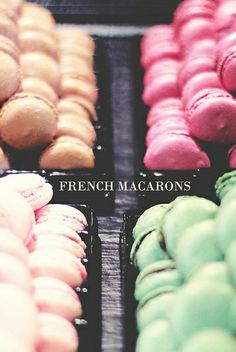 French Macarons in Paris Macarons, French Macaroons, Macaroon Recipes, Eat Pretty, Wonderful Recipe, Dessert For Dinner, Food Photo, Food Pictures, Sweet Recipes