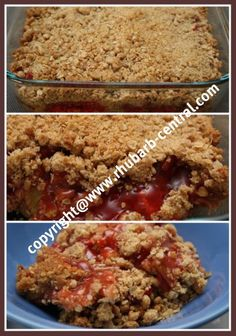 If you are looking for a RHUBARB CRUNCH Recipe, here (see the pictures!) is the best one of this Old Fashioned Rhubarb Recipe!