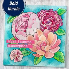 PAINT BY NUMBER FOR ADULTS – Have a fun paint night in with this adult paint by number kit! Number painting is a relaxing and entertaining activity while you are at home. The Bold Floral paint by number is ideal for painting beginners, adults and hobby artists Kids Watercolor, Watercolor Projects, Watercolor Pencils, Watercolour Painting, Floral Watercolor, Watercolors, Art Sets For Kids, Artist Materials, Paint By Number Kits