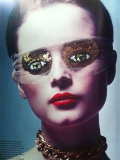 Peter Phillips for Atelier Montex, eye mask, Australian Vogue Oct 2011