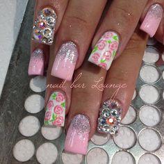 Dainty Bling  #nails #nailart #naildesign