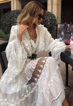 Image about fashion in My style by Rose Mitchell Pretty Dresses, Beautiful Dresses, Summer Outfits Women, Summer Dresses, Boho Fashion, Fashion Dresses, Look Chic, Dream Dress, The Dress