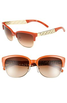 A pop of orange is perfect for summer! Can't get enough of these Tory Burch cat-eye sunglasses.