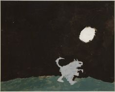 """Danny Hendricks """"Mouse Killer"""", ,Maxwell Elementary, teacher Louisa Castor, 8 1/2 x 11"""" unmounted 14 x 18"""" mounted Tempera on Cardboard From All Creatures Great and Small (Exhibition Connection Birds, Beasts, Blossoms and Bugs in East Asian Art) SAC1997.1"""