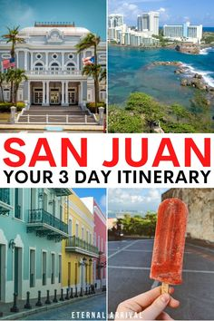 Planning a trip to San Juan, Puerto Rico? This 3 day San Juan itinerary covers all the best things to do in Puerto Rico 's capital city and a day trip to El Yunque Rainforest! 3 days in San Juan | San Juan itinerary | Puerto Rico Itinerary | 3 day San Juan Puerto Rico itinerary | places to visit in San Juan PR | what to do in San Juan PR | beaches in San Juan | day trips San Juan | Walking tour Old san Juan Alaska Travel, Hawaii Travel, Usa Travel, Travel List, Travel Goals, South America Travel, North America, El Yunque Rainforest, Caribbean Vacations