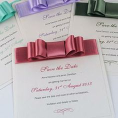 La Belle Handmade Save the Date Cards
