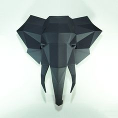 Elephant HeadElephant paper Elephant lowpoly Paper Trophy