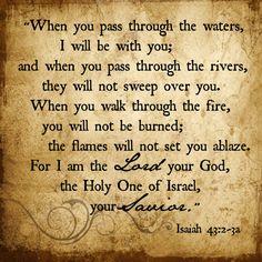 Isaiah 43: 2-3a