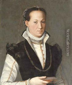 Portrait of a lady Oil Painting - Alessandro Allori