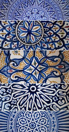 The prints of Morocco...love the patterns and colors