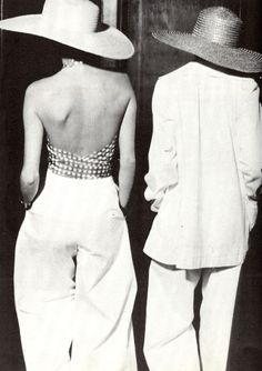 A backless top can be far more alluring than a low neckline - take your cues from this vintage YSL look.