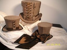 `.An Assortment of menswear tophats by GypsyLadyHats.