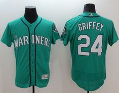 c9de4a7b15c Mariners  51 Ichiro Suzuki Green Team Logo Fashion Stitched MLB Jersey. See  more. Mariners  24 Ken Griffey Green Flexbase Authentic Collection Stitched  MLB ...