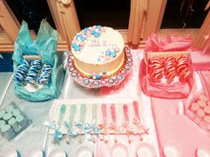 My gender reveal cake!