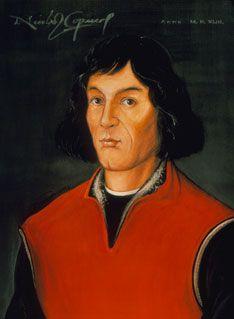 Nikolaus Kopernikus, den polske astronomen som först hävdade att solen var universums centrum. 1512 började han utveckla en komplett matematisk modell för sin heliocentriska teori.