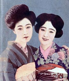 Tsukuba Yukiko 筑波雪子 (1906-1977) and friend - Japan - 1925