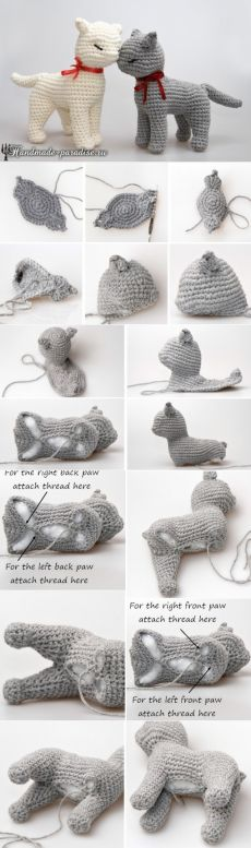 - New Ideas Baby Knitting Patterns Katze Häkelbeschreibung // . Baby Knitting Patterns, Crochet Animal Patterns, Crochet Patterns Amigurumi, Crochet Animals, Crochet Dolls, Crochet Stitches, Knitting Toys, Afghan Patterns, Crochet Cat Toys
