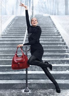 Coco Rocha for Longchamp Ad campaign (Fall-Winter 2012) photoshoot (7 HQ…