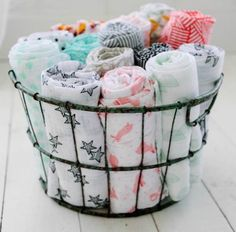 Baby blanket storage