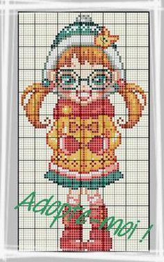 personnage - character - point de croix - cross stitch - Blog : http://broderiemimie44.canalblog.com/