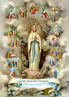 Novena To Our Lady of Lourdes February Each Day Pray Be blessed, O most pure Virgin, for having vouchsafed to manifest your s. Mama Mary, Catholic Religion, Catholic Art, Religious Art, Religious Icons, Catholic Store, Catholic Prayers, True Religion, Catholic Pictures