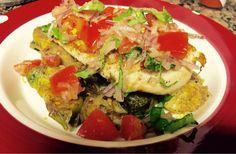 Paleo Platez: Bruschetta Chicken with Balsamic Brussels Sprouts