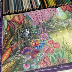 Inspirational Coloring Pages by @rpenze #MagicalJungle #SelvaMagica #johannabasford #coloringbook #livrodecolorir