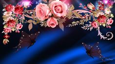 Unicorns Rainbows and Butterflies Background   HD Of Roses Butterflies Wallpaper