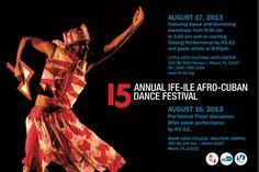 15th Annual IFE-ILE Afro-Cuban Dance Festival