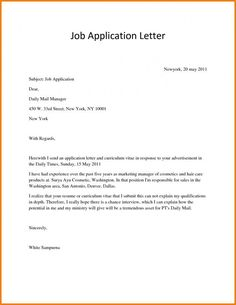 10 best application letters images on pinterest cover letter for