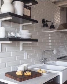 Walnut Butcher Block, Kitchen Shelves, Kitchen Interior, Home Goods, Sink, Lofts, Buffalo, Instagram Posts, Kitchen Ideas