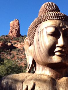 Red Rock Buddha at Buddha Beach - Sedona, Arizona