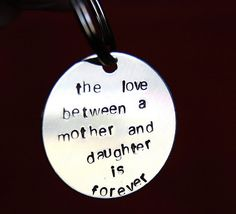 Gift for Mom from daughter on wedding day, Birthday gift for Mom, Mothers Day gift, To Mom from daughter keychain on Etsy, $29.00