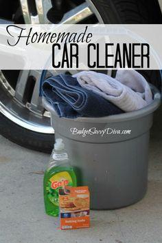 Diy Car Wash Soap, Homemade Car Wash Soap, Car Soap, House Cleaning Tips, Car Cleaning, Cleaning Hacks, Cleaning Supplies, Wash Car At Home, How To Wash Car
