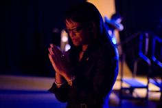 Lashunda Rundles praying right before going on stage. Photograph by Joshua Pickering #fearofpublicspeaking #toastmasters #publicspeaking #documentary