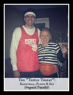 DIY Costumes - Basketball, Player & Ref (pregnant friendly!)